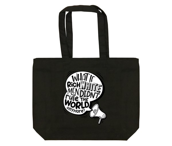 Rich White Men Tote Bag (Black)