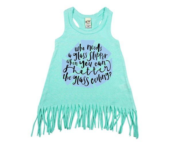 Shatter Fringe Dress (Mint)