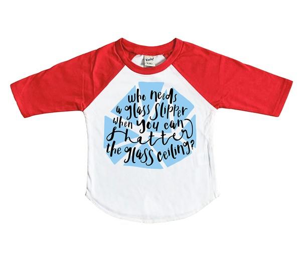 Shatter Kids Raglan (White/Red)