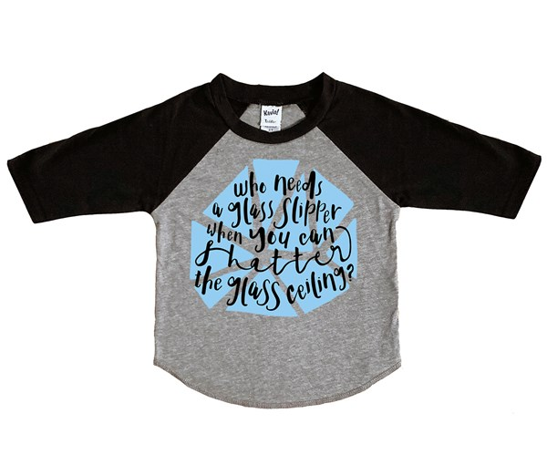 Shatter Kids Raglan (Grey/Black)