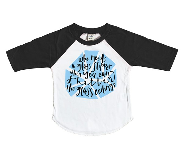 Shatter Kids Raglan (White/Black)