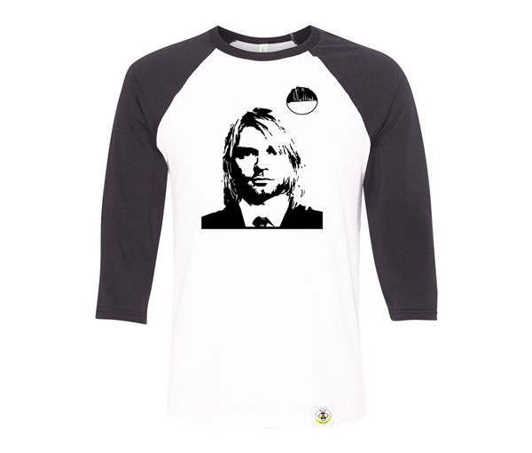 Kurt Adult Raglan (Dark Grey, White)