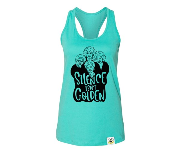 Golden Adult Flowy Racerback Tank