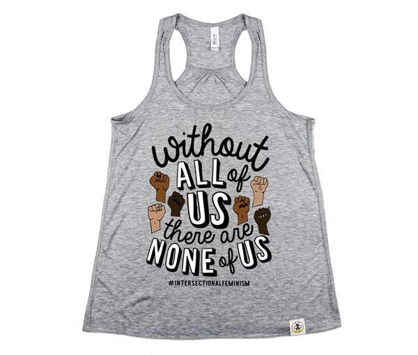 All or None Adult Flowy Racerback Tank
