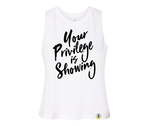 Privilege Adult Racerback Cropped Tank