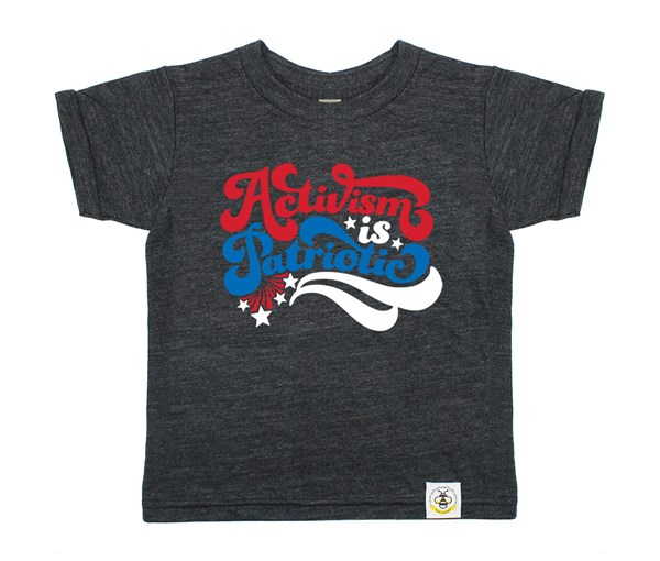 Activism is Patriotic Kids Crew (Heather Charcoal)