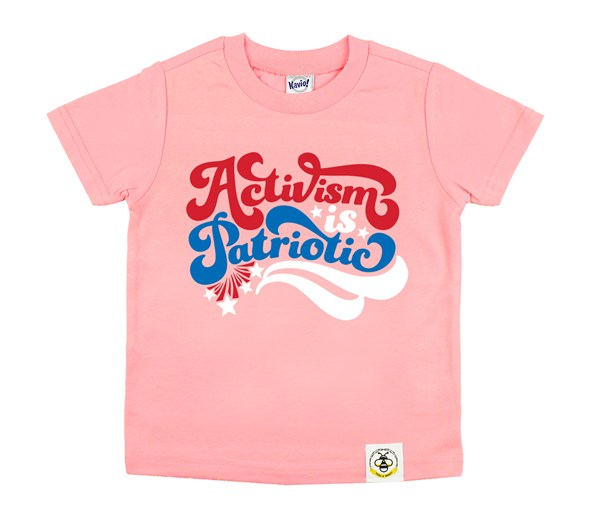 Activism is Patriotic Kids Crew (Flamingo)