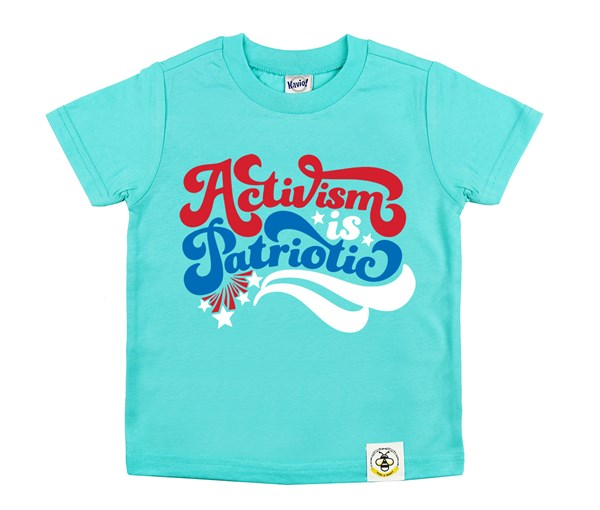 Activism is Patriotic Kids Crew (Caribbean Blue)
