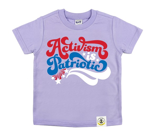 Activism is Patriotic Kids Crew (Lavender)