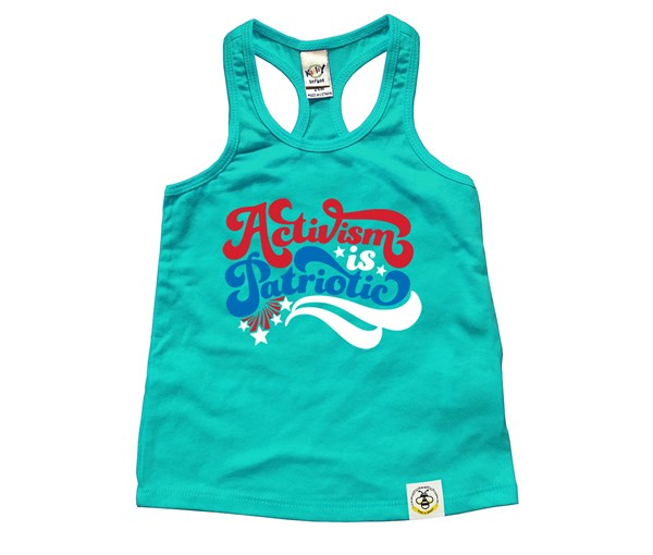 Activism is Patriotic (Kids Racerback Tank)