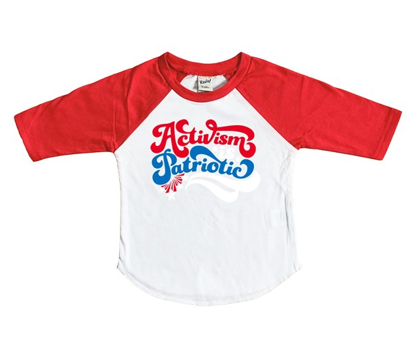 Activism is Patriotic (Kids Raglan)