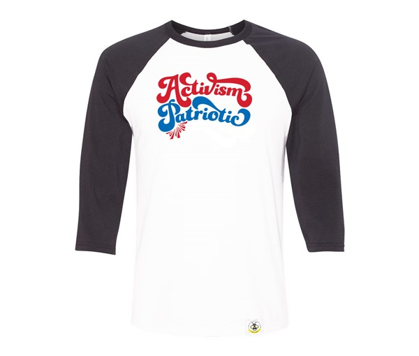 Activism is Patriotic Adult Raglan