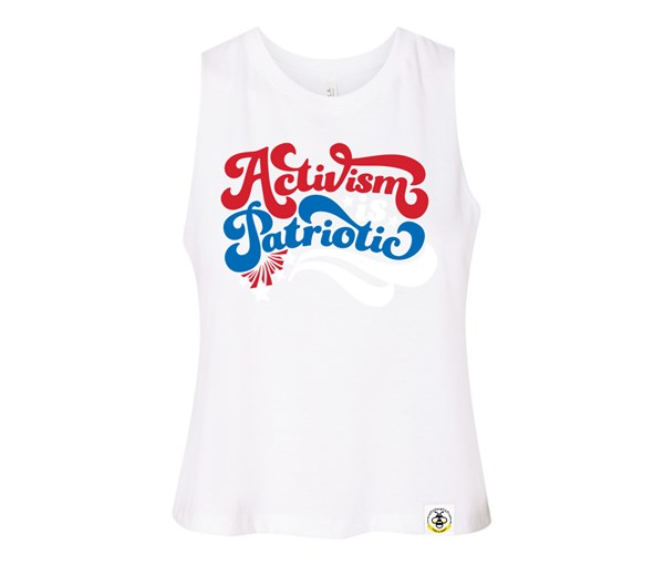 Activism is Patriotic Adult Racerback Cropped Tank