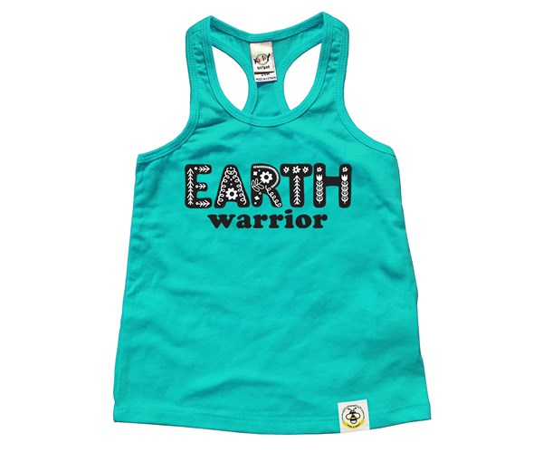 Earth Warrior (Kids Racerback Tank)