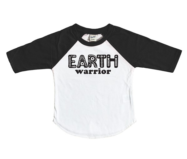 Earth Warrior (Kids Raglan)