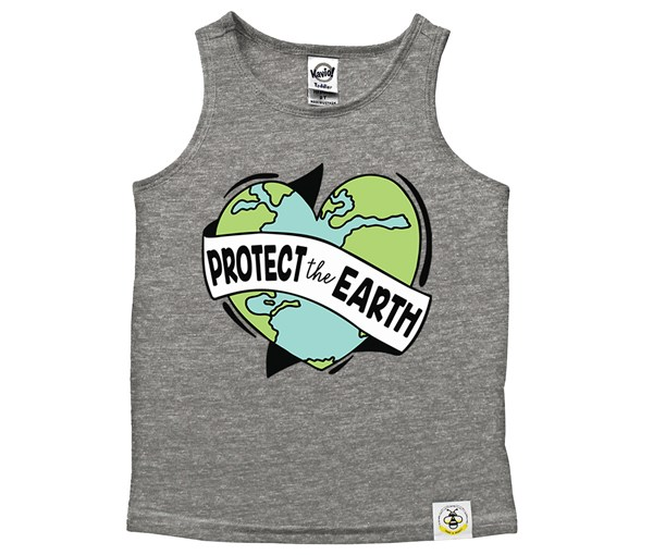 Protect the Earth Scoop Neck Tank (Grey)