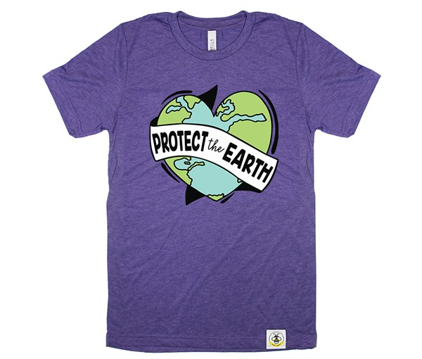 Protect the Earth Adult Crew (Purple)