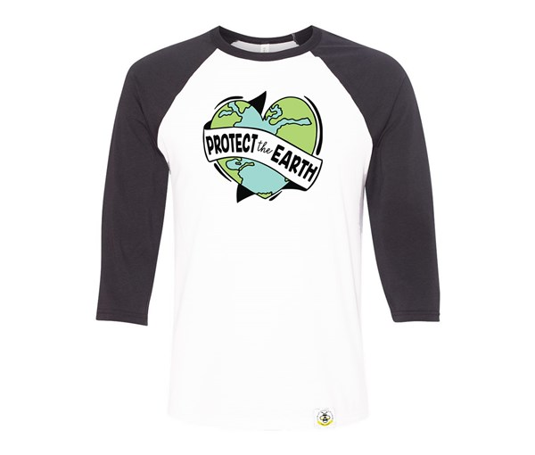 Protect the Earth Adult Raglan