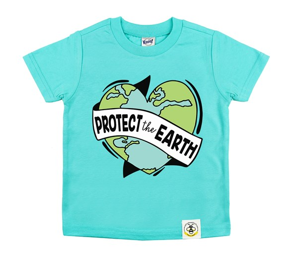 Protect the Earth Kids Crew (Caribbean Blue)