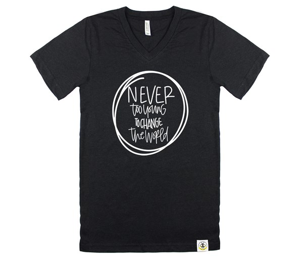 Never Too Young (Adult V-Neck)