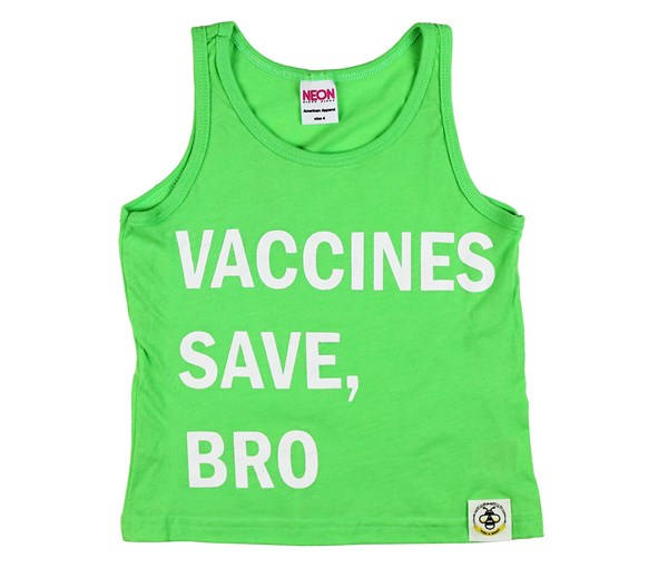 Vaccines Save, Bro Tank (Neon Green)