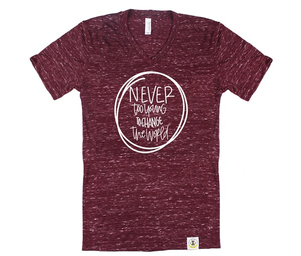 Never Too Young Adult V-Neck (Cranberry)