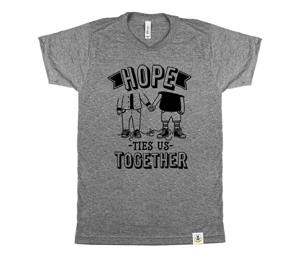 Hope Ties Us Together Adult Crew (Grey)