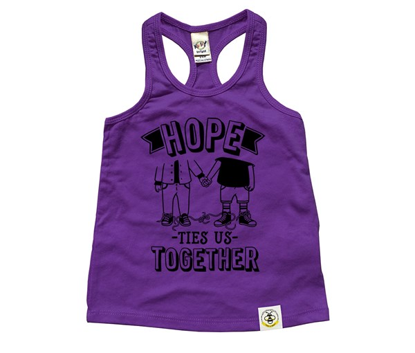 Hope Ties Us Together Racerback Tank (Purple)