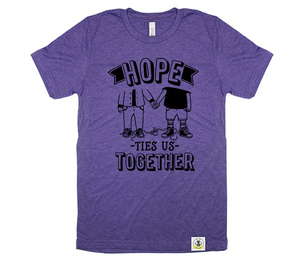Hope Ties Us Together Adult Crew (Purple)
