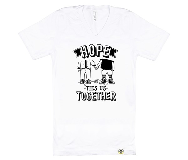 Hope Ties Us Together (Adult V-Neck)