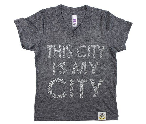 This City V-neck (White Text)
