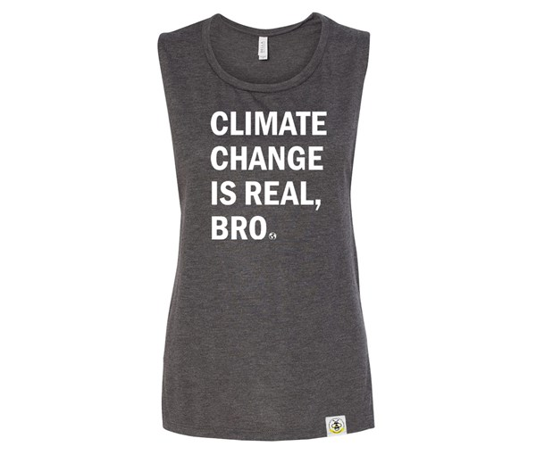 Climate Change Adult Muscle Tank (Charcoal)
