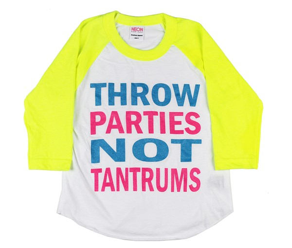 Throw Parties (Yellow/White Raglan)