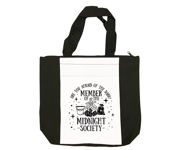 Midnight Society Tote (Black/White)
