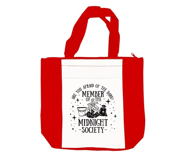Midnight Society Tote (Red/White)