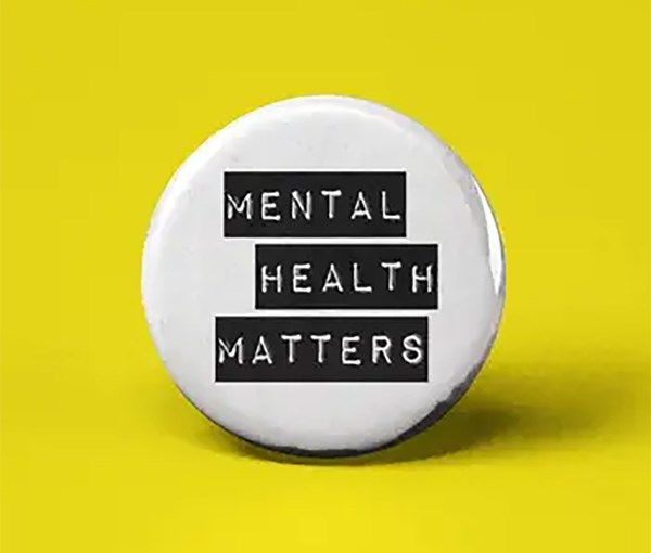 Mental Health Matters Pin-back Button
