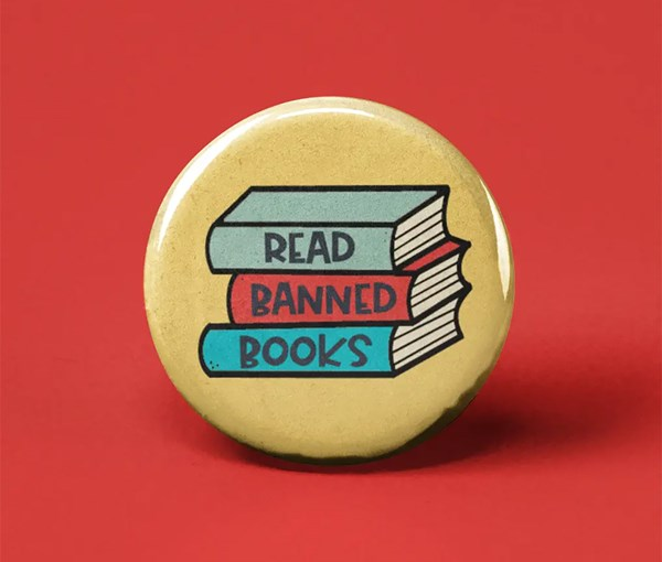 Read Banned Books Pin-back Button