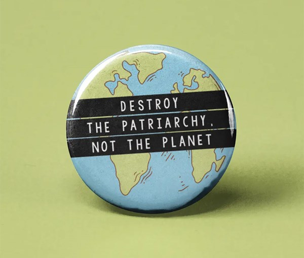 Not the Planet Pin-back Button