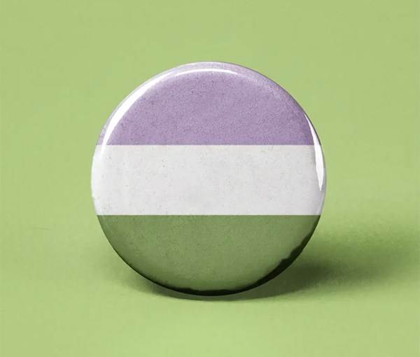 Genderqueer Pride Flag Pin-back Button