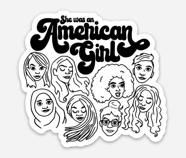 American Girl Vinyl Sticker
