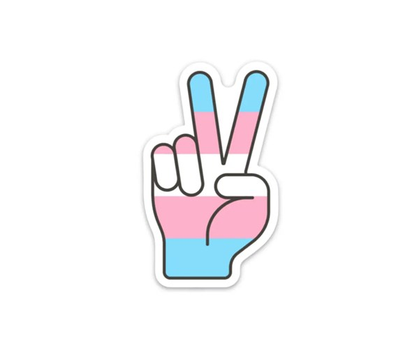 Transgender Pride Peace Vinyl Sticker
