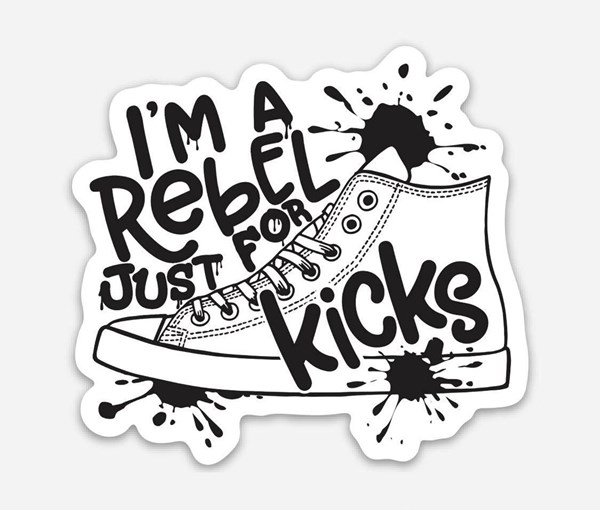 Rebel Just for Kicks Vinyl Sticker