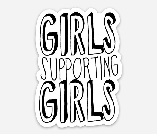 Girls Supporting Girls Vinyl Sticker