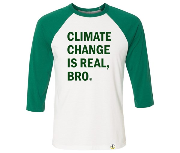 Climate Change Adult Raglan (Green/White)