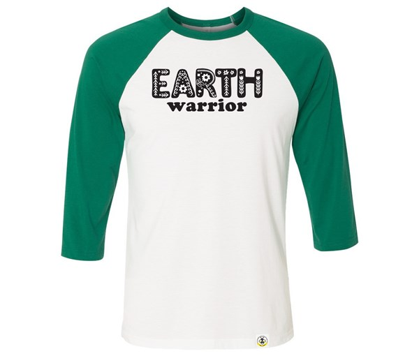 Earth Warrior Adult Raglan (Green/White)
