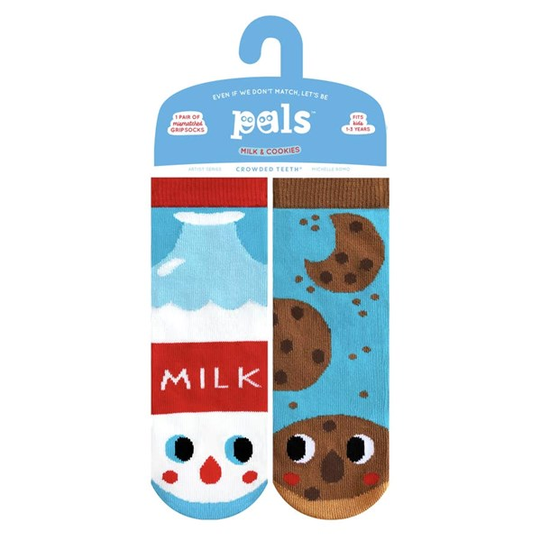 Pals Socks: Milk and Cookies Pals Mismatched Socks (Ages 1-3)
