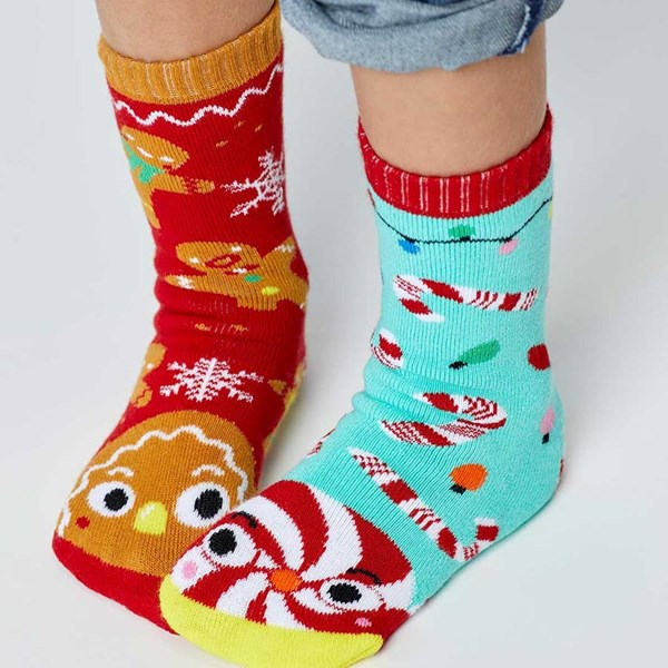 Pals Socks: Gingerbread and Candy Cane Pals Mismatched Socks (Ages 1-3)