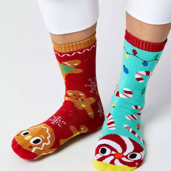 Pals Socks: Gingerbread and Candy Cane Pals Mismatched Socks (Teen/Adult)