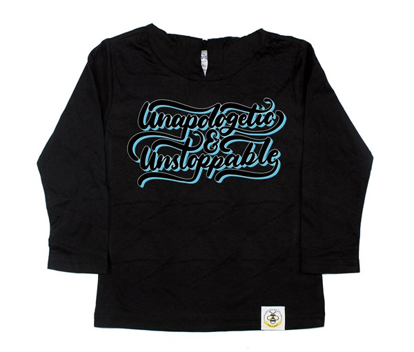 Unapologetic and Unstoppable Hooded Tee (Black)