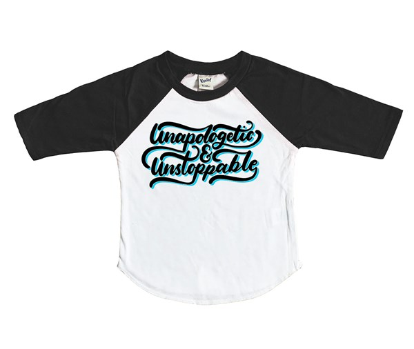 Unapologetic and Unstoppable (Kids Raglan)